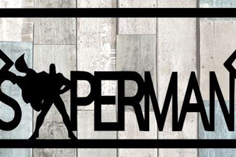 Superman Scrapbook Title
