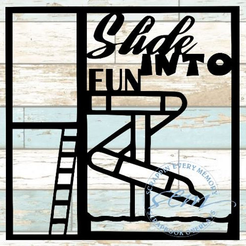 Slide Into Fun Scrapbook Overlay