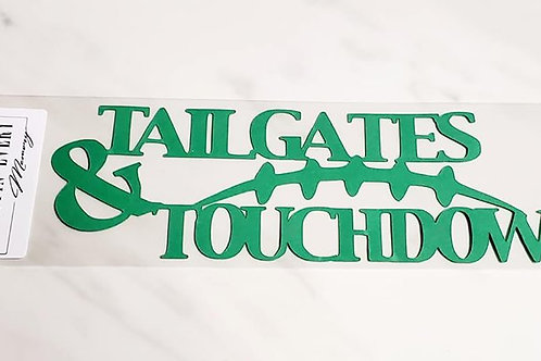 Tailgates and Touchdowns Scrapbook Deluxe Die Cut