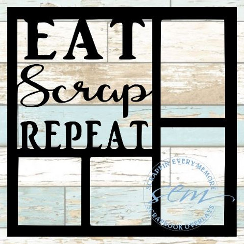 Eat Scrap Repeat Scrapbook Overlay