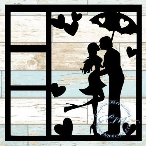 Love Couple Scrapbook Overlay