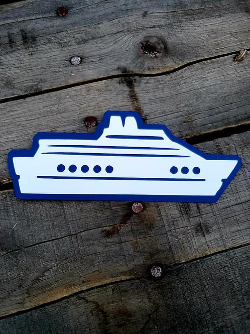 Cruise Ship Paper Piecing Die Cut