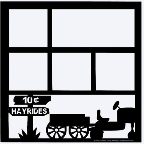 Hayrides Scrapbook Overlay