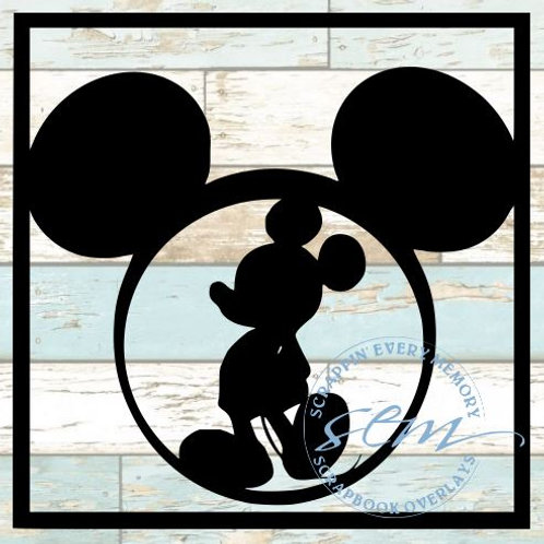 Mickey Mouse Scrapbook Overlay