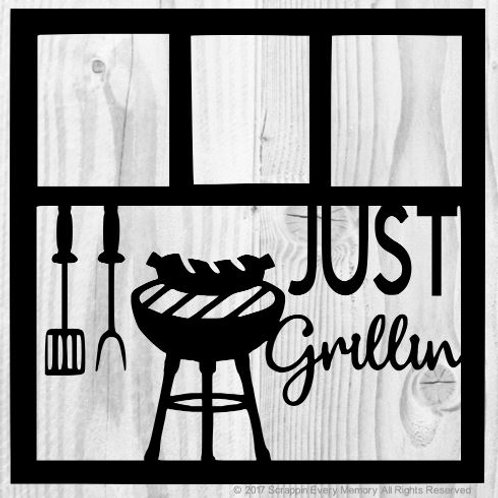 Just Grillin Scrapbook Overlay