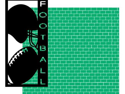 Football Vertical Scrapbook Title