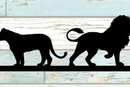 Lion & Lioness Scrapbook Border
