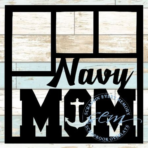 Navy Mom Scrapbook Overlay