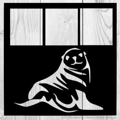 Sea Lion Scrapbook Overlay