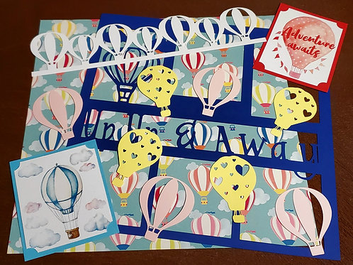 Up Up and Away Scrapbook Page Kits