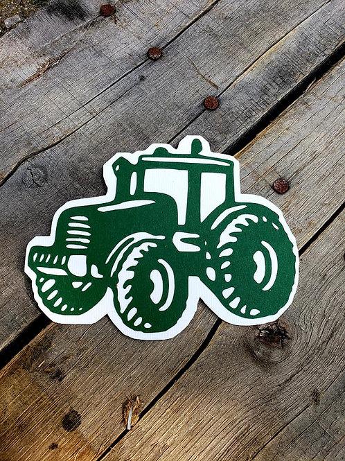 Tractor Paper Piecing Die Cut