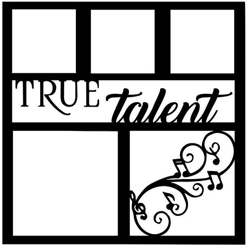 True Talent Scrapbook Overlay