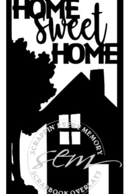 Home Sweet Home Vertical Scrapbook Title