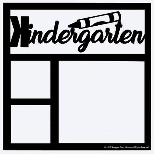 Kindergarten Scrapbook Overlay