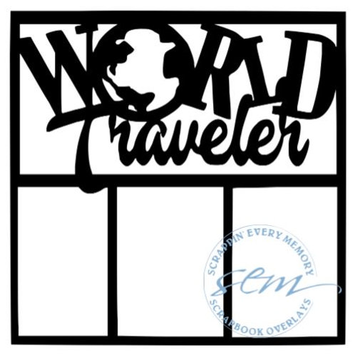 World Traveler Scrapbook Overlay