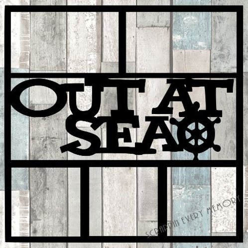 Out At Sea Scrapbook Overlay