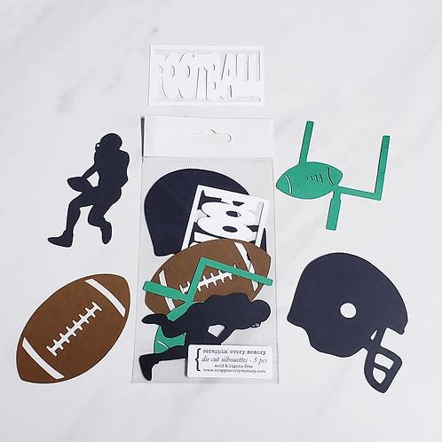 Football Die Cut Silhouette Mini Set