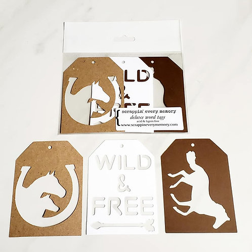 Wild & Free Deluxe Word Tags