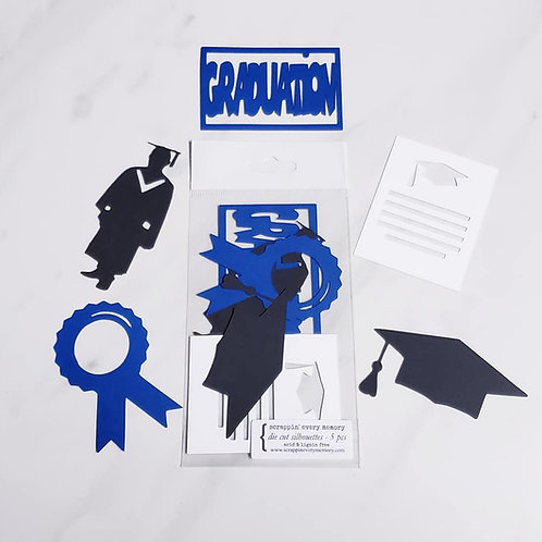 Graduation Die Cut Silhouette Mini Set