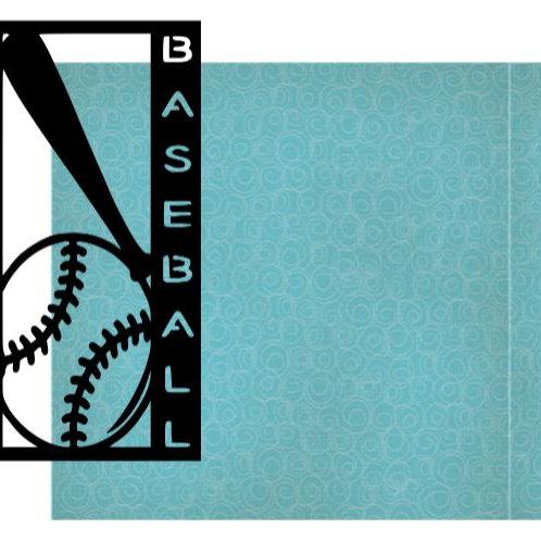 Baseball Vertical Scrapbook Title
