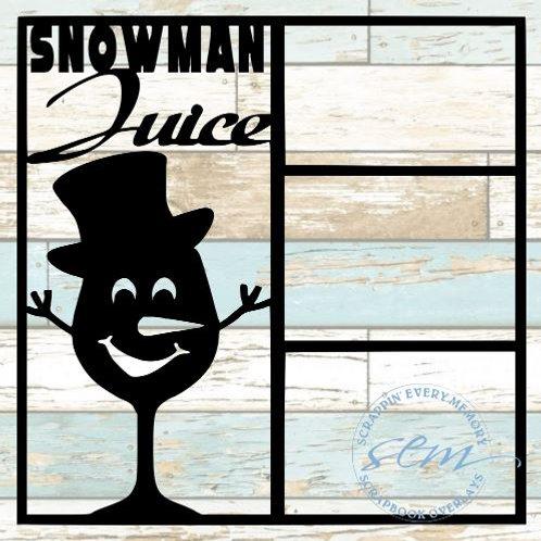 Snowman Juice Scrapbook Overlay