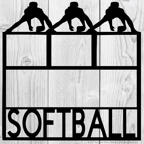 Softball Scrapbook Overlay