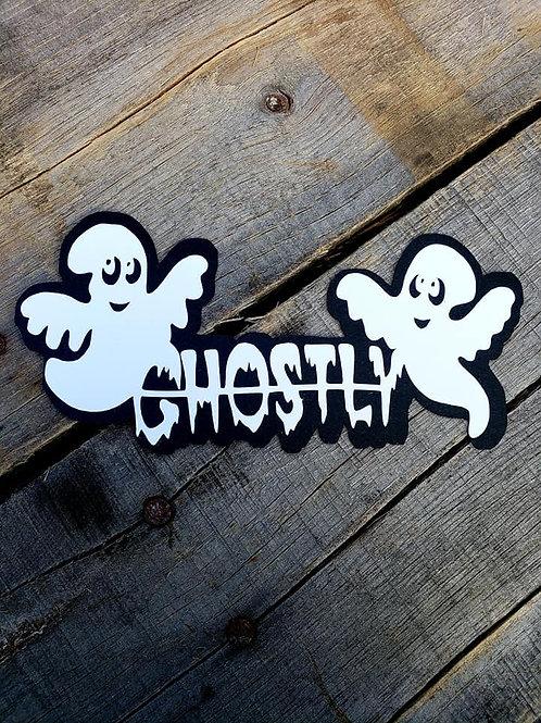 Ghostly Paper Piecing Die Cut