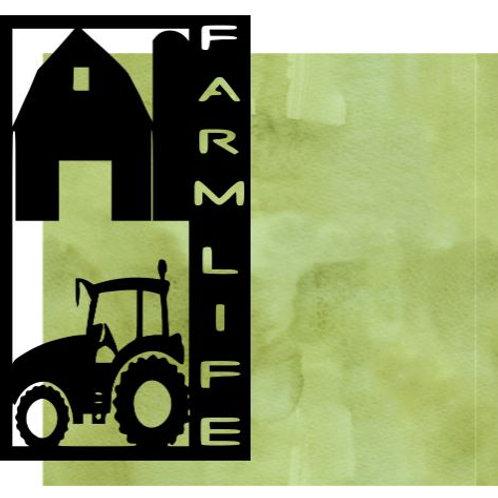 Farm Life Vertical Scrapbook Title