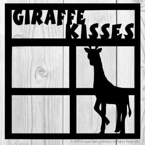Giraffe Kisses Scrapbook Overlay