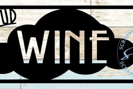 On Cloud Wine Scrapbook Title