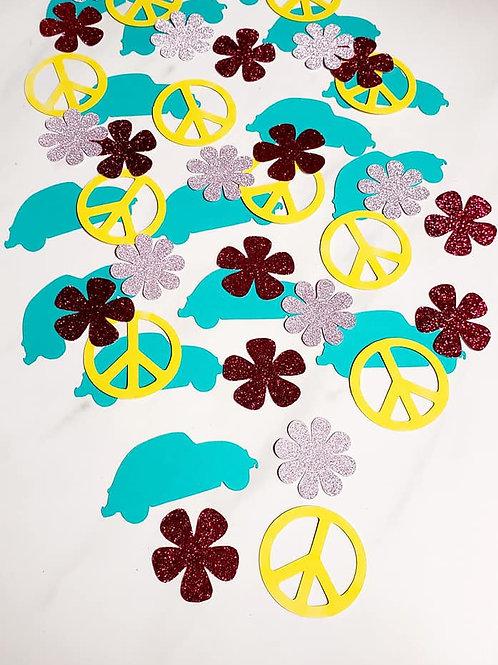 Hippie Theme Scrapbook Page Confetti
