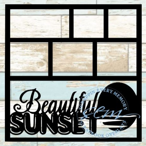 Beautiful Sunset Scrapbook Overlay