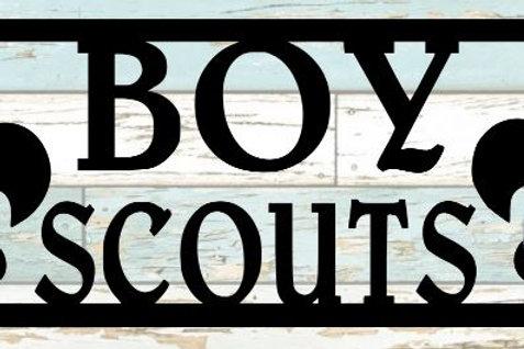 Boy Scouts Scrapbook Title