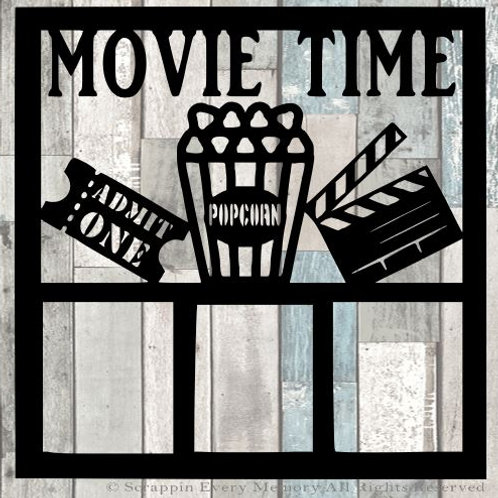 Movie Time Scrapbook Overlay