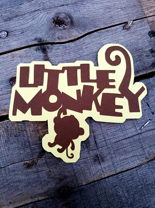 Little Monkey Paper Piecing Die Cut