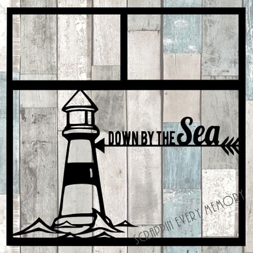 Down By The Sea Scrapbook Overlay