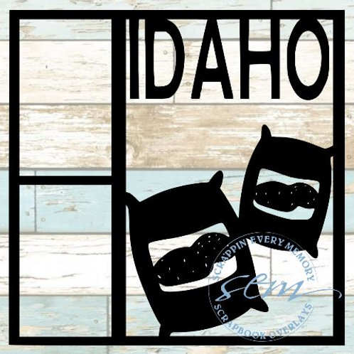 Idaho Scrapbook Overlay