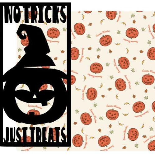 No Tricks Just Treats Vertical Scrapbook Title