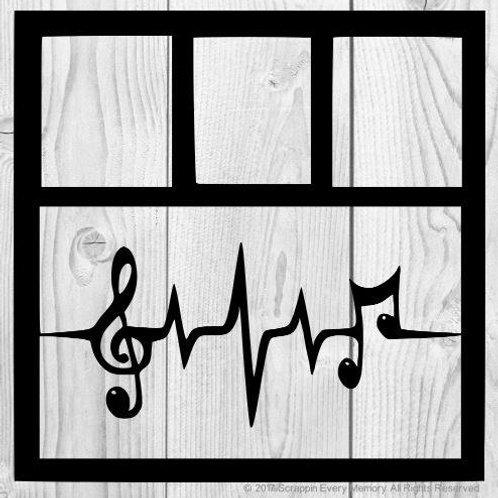Music Heartbeat Scrapbook Overlay