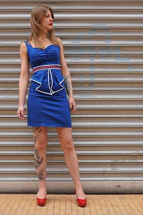Kobalblauwe pin-up style jurkje