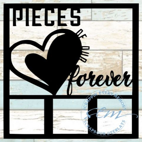 Pieces Of Our Forever Scrapbook Overlay