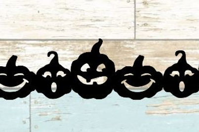 Pumpkins Scrapbook Border