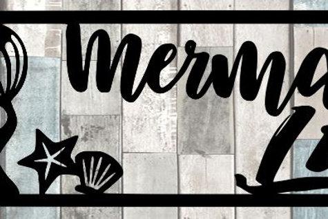 Mermaid Life Scrapbook Title