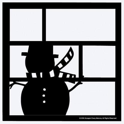 Snowman Scrapbook Overlay