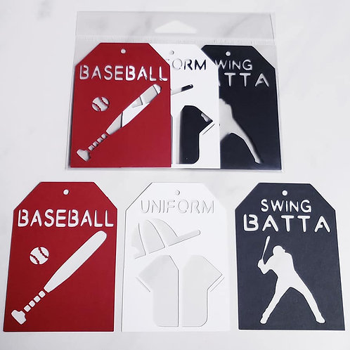 Baseball Deluxe Word Tags