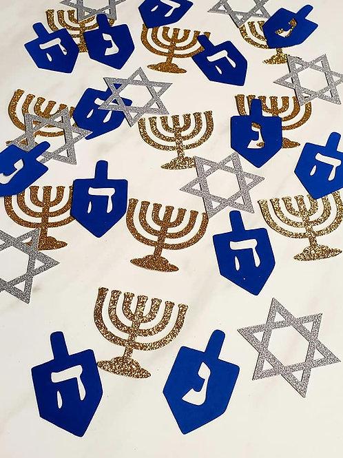Hanukkah Theme Scrapbook Page Confetti