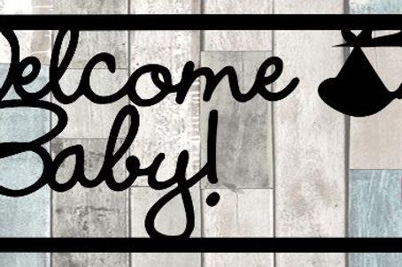Welcome Baby Scrapbook Title