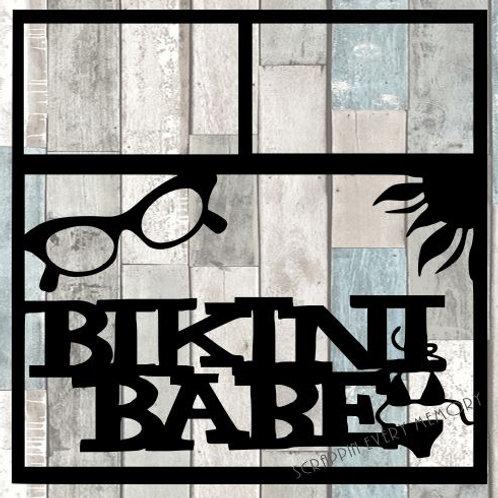 Bikini Babe Scrapbook Overlay