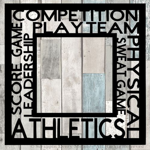 Sports Tag Text Scrapbook Overlay