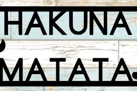 Hakuna Matata Scrapbook Title